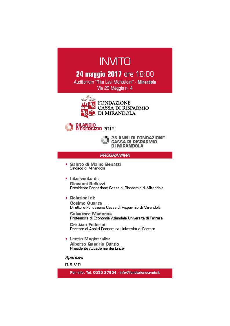 Fondazione Cassa Risparmio Di Mirandola Eventi